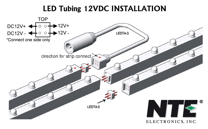 Nte ledta 3 power supply adaptor 12vdc led tube installation instructions aloadofball Image collections
