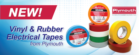 Plymouth Vinyl & Rubber Electrical Tapes from NTE Electronics