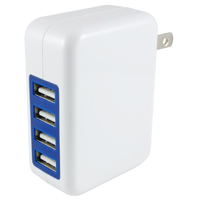 4 PORT USB AC ADAPT 5V 4A