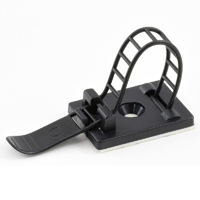 Black Nylon Cable Clamp - Ladder Style