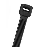 NTE 04-08400M      CABLE TIE 40 LB. INTERMEDIATE 8.8 IN LENGTH UV BLACK NYLON 1000/BAG