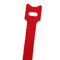 NTE 04-0640HL2     VELCRO TIE 6 INCH  LENGTH RED 10/PACK