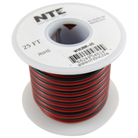 WIRE-SPKR 18/2 BLK/RED SD