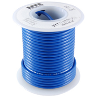 NTE WH610-06-1000  HOOK UP WIRE 600V STRANDED 10 GAUGE BLUE 1000 FOOT SPOOL