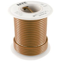 NTE WH610-01-1000  HOOK UP WIRE 600V STRANDED 10 GAUGE BROWN 1000 FOOT SPOOL