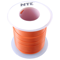 NTE WH610-03-1000  HOOK UP WIRE 600V STRANDED 10 GAUGE ORANGE 1000 FOOT SPOOL
