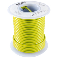 NTE WH610-04-1000  HOOK UP WIRE 600V STRANDED 10 GAUGE YELLOW 1000 FOOT SPOOL