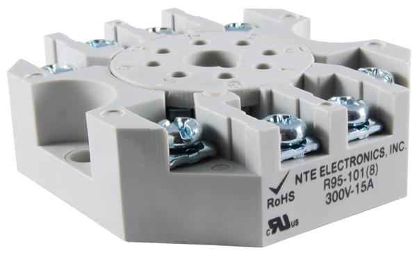 R95 101 big nte electronics relays, contactors relay socket panel mounts  at soozxer.org