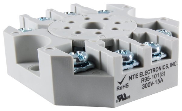 R95 101 big nte electronics relays, contactors relay socket panel mounts  at bayanpartner.co