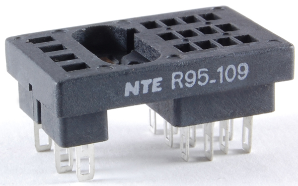 R95 109 big nte electronics relays, contactors relay socket panel mounts Relay Switch Wiring Diagram at n-0.co